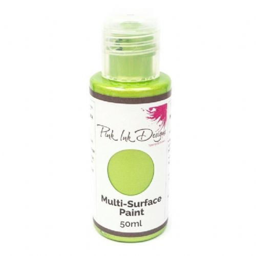 Pink Ink Multi Surface Paint Green Apple Shimmer 50ml